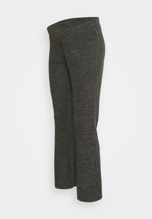 PCMPAM FLARED PANT - Broek - dark grey melange