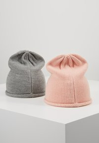 Anna Field - 2 PACK - Mütze - rose/grey - 2