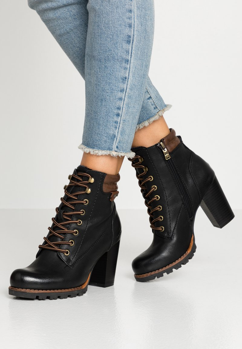 TOM TAILOR - Ankle boots - black