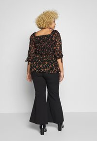 Simply Be - SHIRRED BLOUSE - Blouse - black - 2