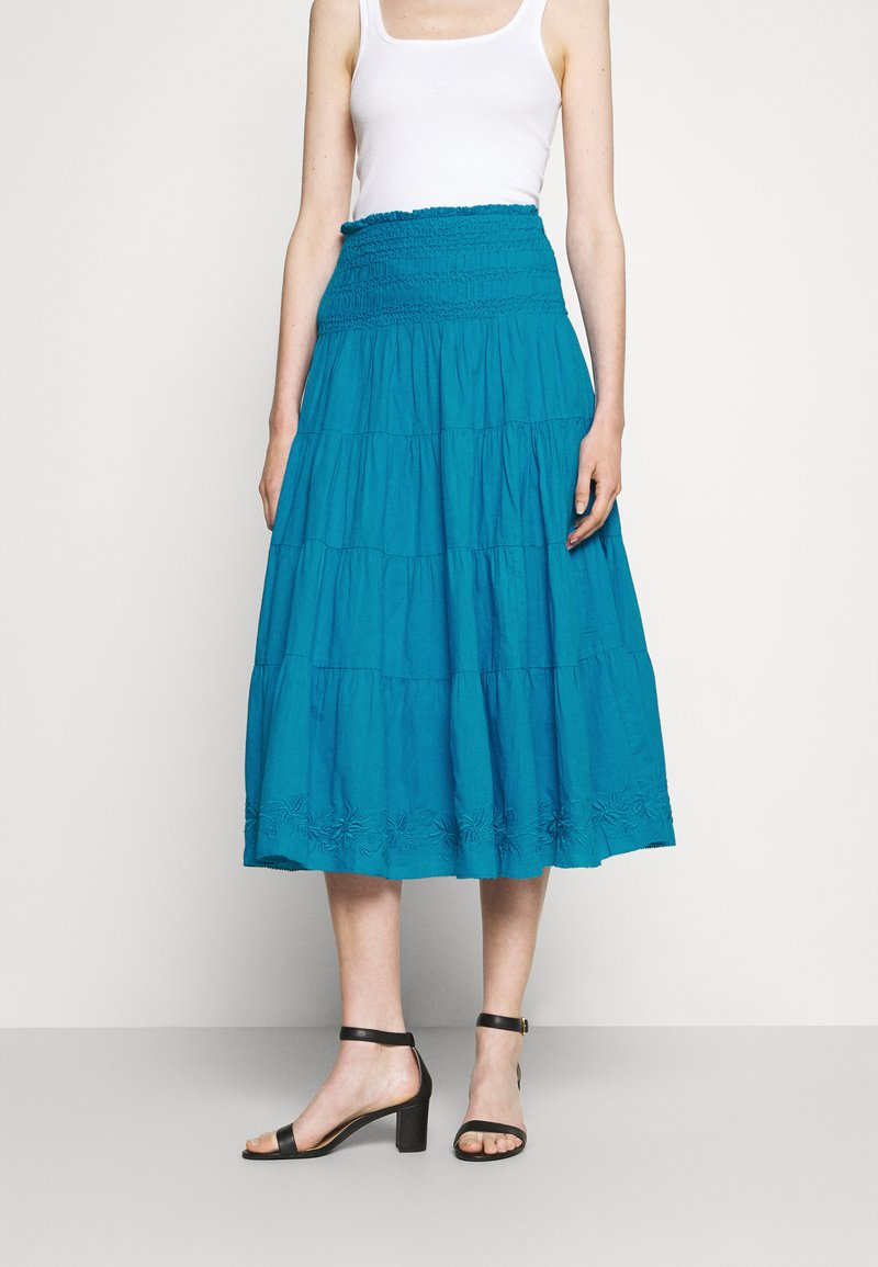 Lauren Ralph Lauren - LUHANNA PEASANT SKIRT - Pleated skirt - summer topaz