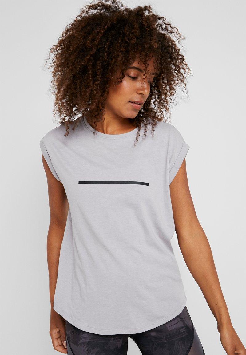 Even&Odd active - Camiseta estampada - silver