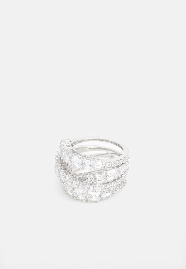 TWIST WRAP FULL PAVE - Bague - silver-coloured