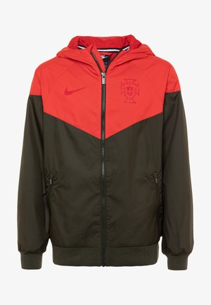 PORTUGAL FPF - Training jacket - sequoia/sport red/sequoia/gym red