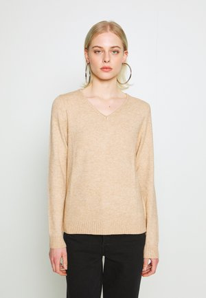 VIRIL  - Jumper - mottled beige