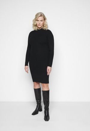 PCJADE NECK DRESS - Shift dress - black