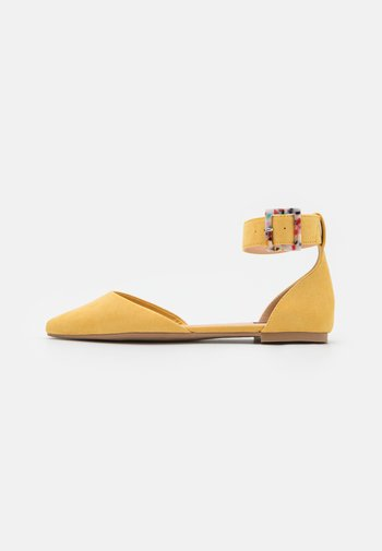 ONLANAS LIFE BUCKLE - Ankle strap ballet pumps - yellow