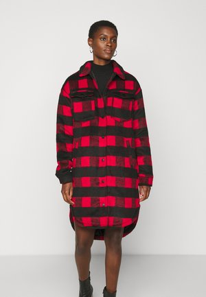NMMALI LONG JACKET  - Short coat - black/red