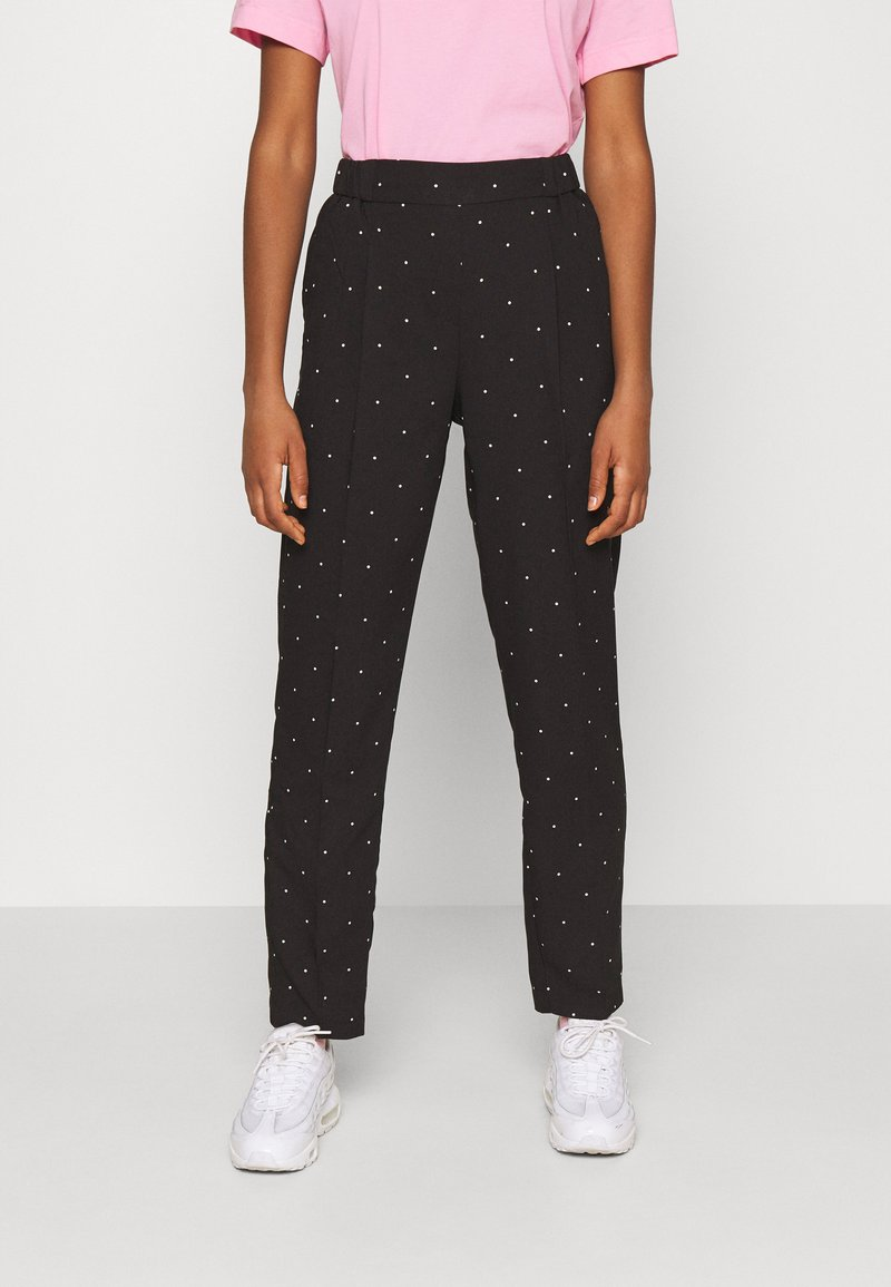 Vero Moda - VMMORGAN PANT - Pantaloni - black/white