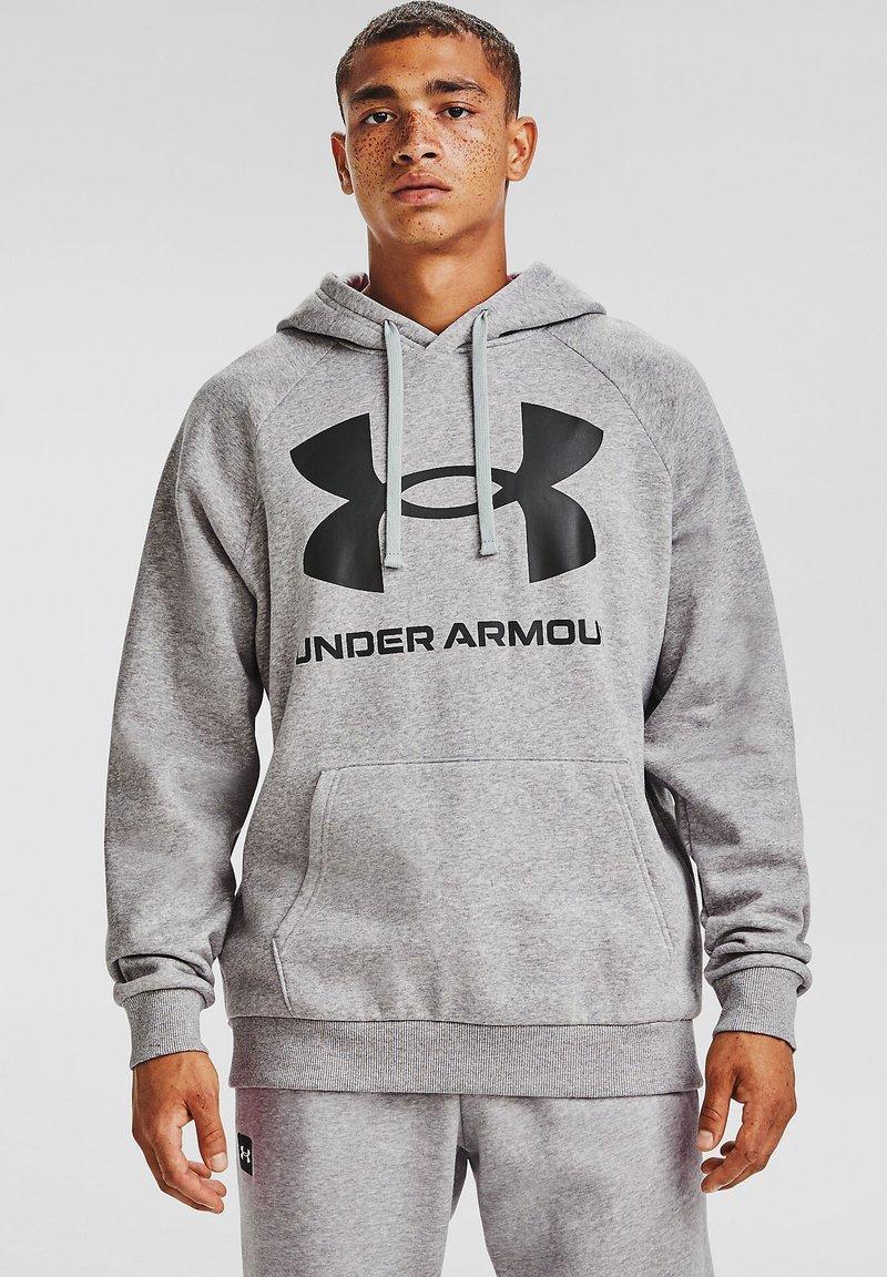 Under Armour - RIVAL  - Felpa con cappuccio - mod gray light heather
