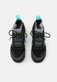 adidas Performance - TERREX FREE HIKER GORE-TEX - Fjellsko - core black/active mint/hi-res yellow - 3