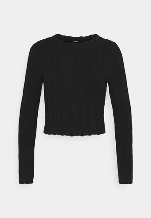 ONLKELLY CROPPED - Long sleeved top - black