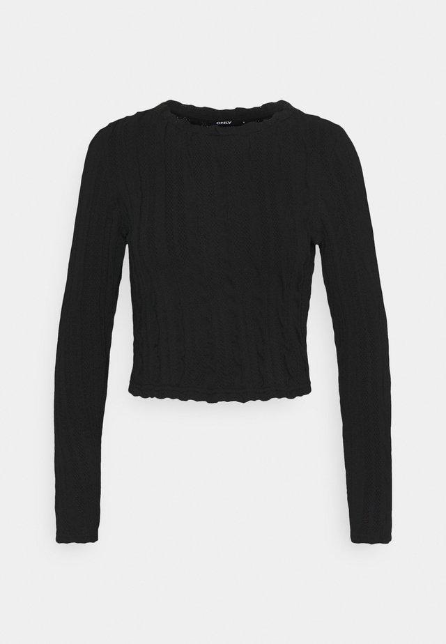 ONLKELLY CROPPED - T-shirt à manches longues - black