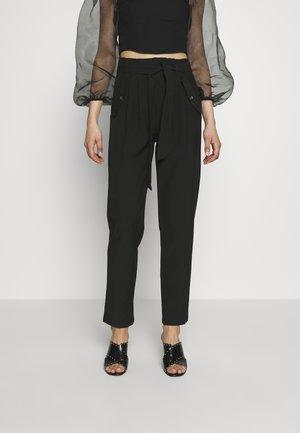 JDYSELMA PAPERWAIST PANT - Kalhoty - black