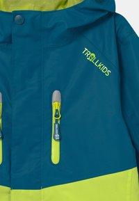 TrollKids - NUSFJORD UNISEX - Hardshell jacket - petrol/lime - 2
