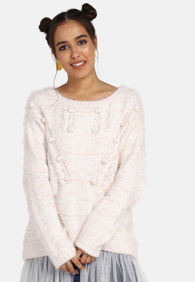 Jersey de punto - pink/white