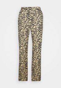 Good American - SIDE SLIT - Trousers - sand zebra - 0