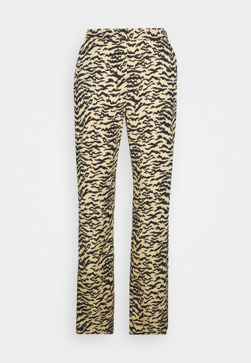 Good American - SIDE SLIT - Trousers - sand zebra