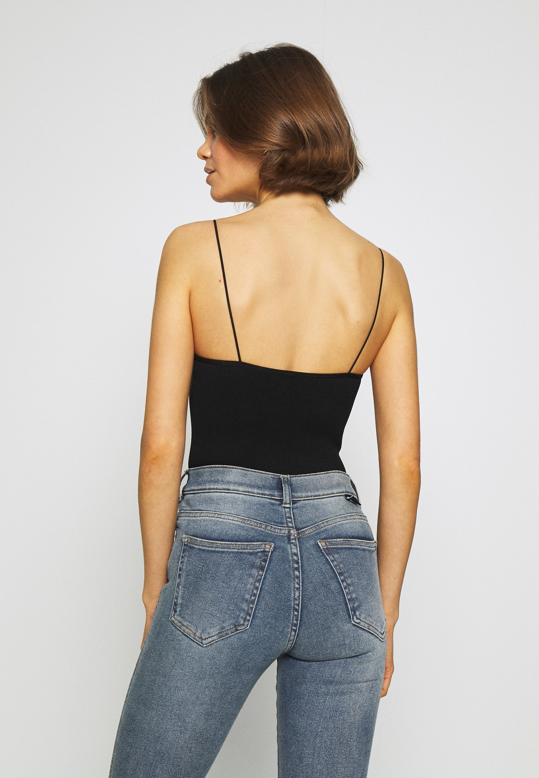 BDG Urban Outfitters THONG BUNGEE STRAP BODYSUIT - Topper - black