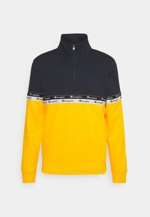 HALF ZIP  - Sweater - gold/navy