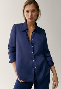 Massimo Dutti - Button-down blouse - blue - 0