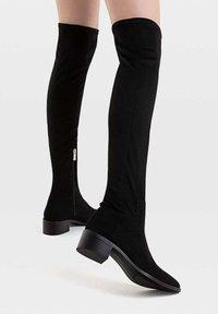 Stradivarius - Over-the-knee boots - black - 0