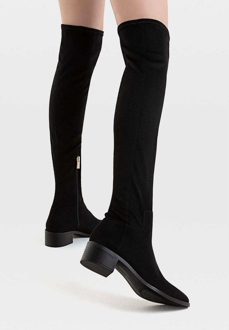 Stradivarius - Over-the-knee boots - black