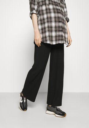 OLMNELLA WIDE PANT - Trousers - black