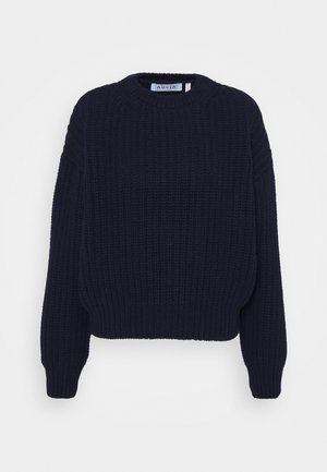 CHUNKY SWEATER - Strikkegenser - navy