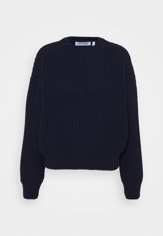 CHUNKY SWEATER - Pullover - navy
