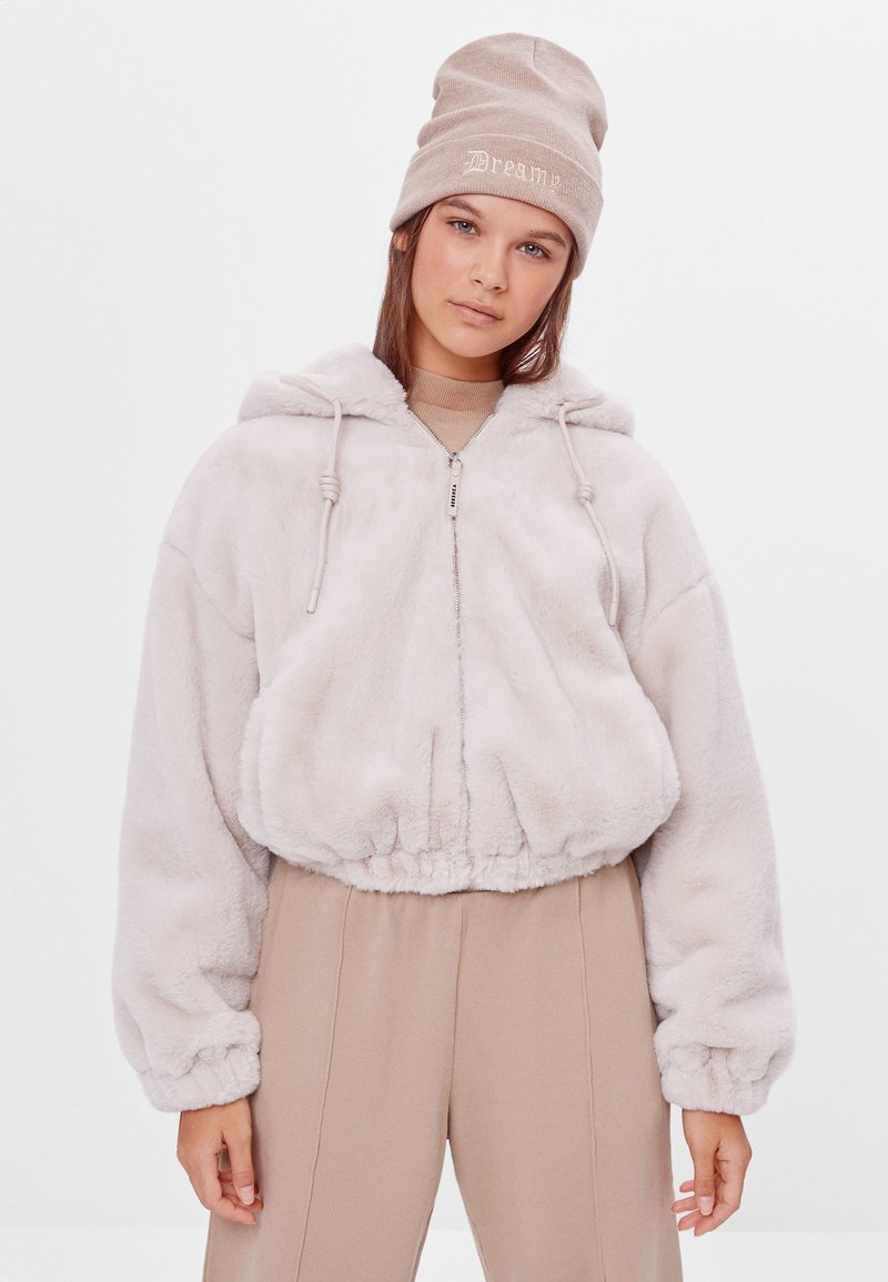 Bershka - Fleece jacket - beige