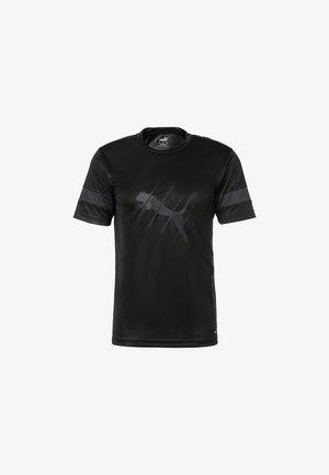 T-shirt med print - puma black-asphalt