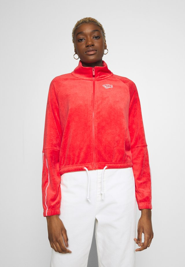 RETRO - Zip-up hoodie - track red