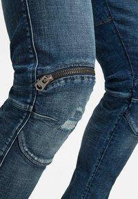 G-Star - 5620 3D ZIP KNEE SKINNY - Jeans Skinny Fit - faded ripped baltic sea - 4