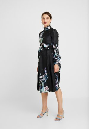 MARLOWE FLORAL LONG SLEEVE MIDI DRESS - Day dress - multi