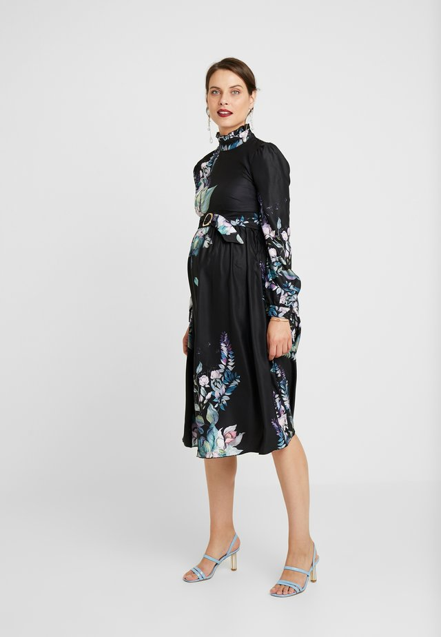 MARLOWE FLORAL LONG SLEEVE MIDI DRESS - Robe d'été - multi