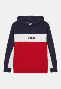 Fila - BASIC BLOCKED HOODY - Hoodie - true red/black iris/bright white - 0