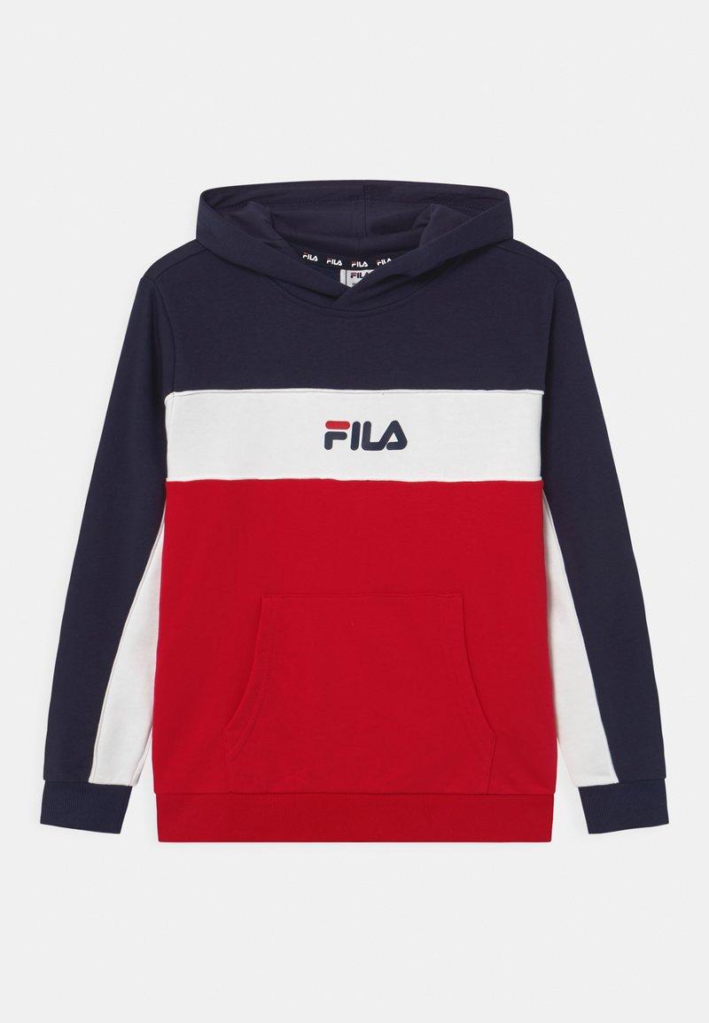 Fila - BASIC BLOCKED HOODY - Hoodie - true red/black iris/bright white