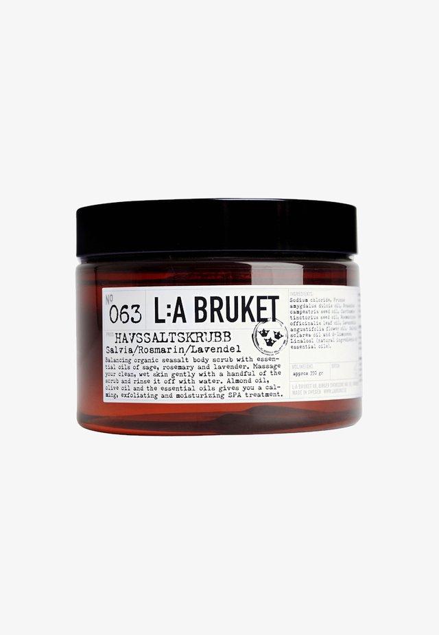 SALT SCRUB - Body scrub - no.63 sage/rosemary/lavender