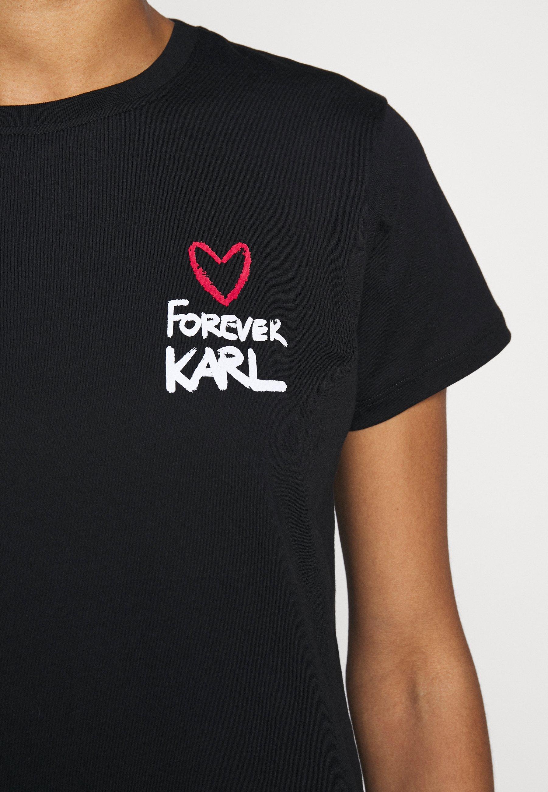Karl Lagerfeld Forever - T-shirts Med Print Black/svart