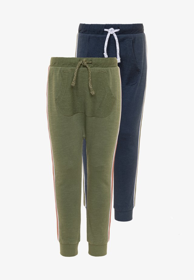 SIDE TAPES 2 PACK - Trainingsbroek - military olive/navy blue
