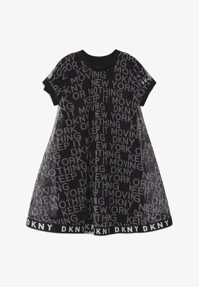 2-IN-1 - Jersey dress - black