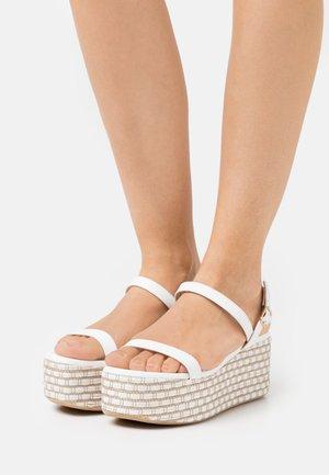 Platform sandals - white/beige