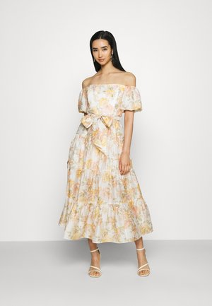 LIA OFF SHOULDER TIERED MIDI DRESS - Maxi dress - vintage splendor