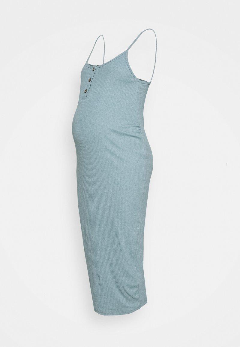 Missguided Maternity - BUTTON FRONT CAMI DRESS - Denní šaty - smoke blue