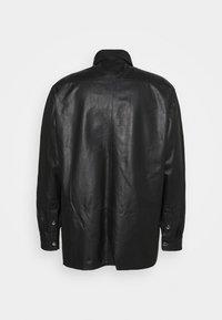 Trussardi - PANELLED ORION SHINY - Košile - black - 1