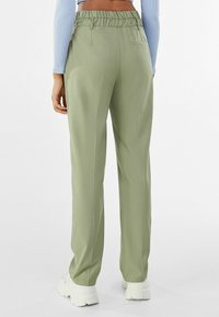 Bershka - Chino kalhoty - khaki - 2