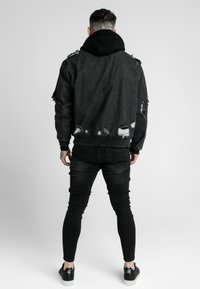 SIKSILK - DISTRESSED JACKET - Giacca di jeans - washed black - 2