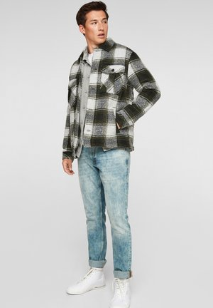 MIT KAROMUSTER - Light jacket - light grey check
