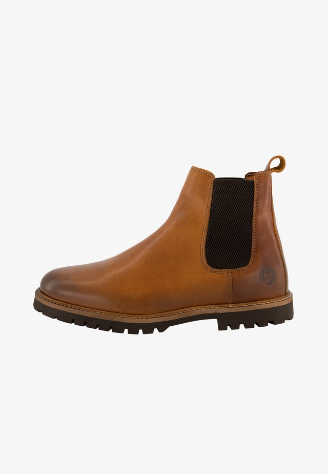 SKJERN - Classic ankle boots - cognac